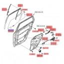 Geam mobil usa spate stg. ( Original ) 83410-2B020 Hyundai Santa Fe