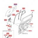 Geam fix usa spate stg. ( Original ) 83417-0X000 Hyundai i10