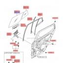 Geam mobil usa spate dr. ( Original ) 83421-0X000 Hyundai I10