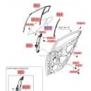 Geam fix usa spate stanga ( Original ) 83417-1E010 Hyundai Accent