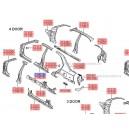 Stalp mijloc stanga ( Original ) 71401-250B1 Hyundai Accent ( an 2002-2005 )